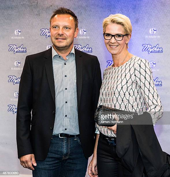 Andre Breitenreiter and his wife Claudia attend the FC Schalke 04 111th Anniversary Gala at Musiktheater im Revier on September 10 2015 in...