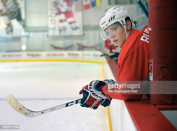 Andre Burakovsky during the intrasquad scrimmage at the Washington Capitals development camp held in the Kettler Capitals Iceplex in Arlington VA...