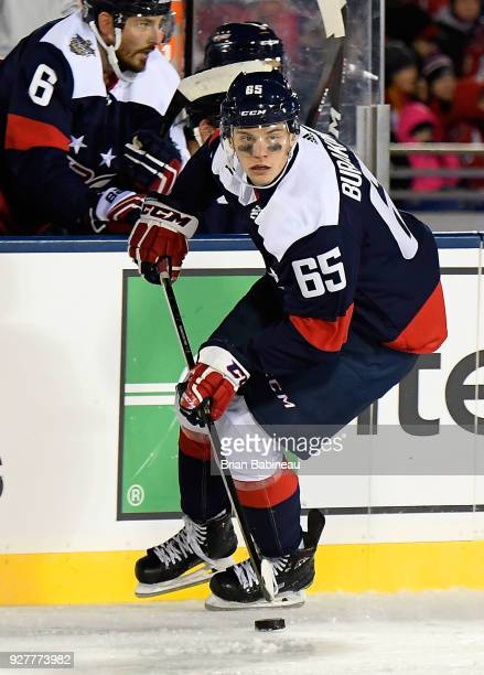 Andre Burakovsky of the Washington Capitals skates during the 2018 Coors Light NHL Stadium Series game between the Toronto Maple Leafs and the...