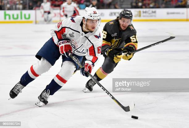 Andre Burakovsky of the Washington Capitals skates during the second period against the Vegas Golden Knights in Game Five of the Stanley Cup Final...