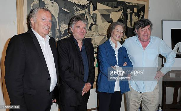 Andre Cardinali Didier Lockwood Charlotte Rampling and Alain Casabona attend the CNEA Press Conference Picasso Workshop at Hotel de Savoie on July 11...