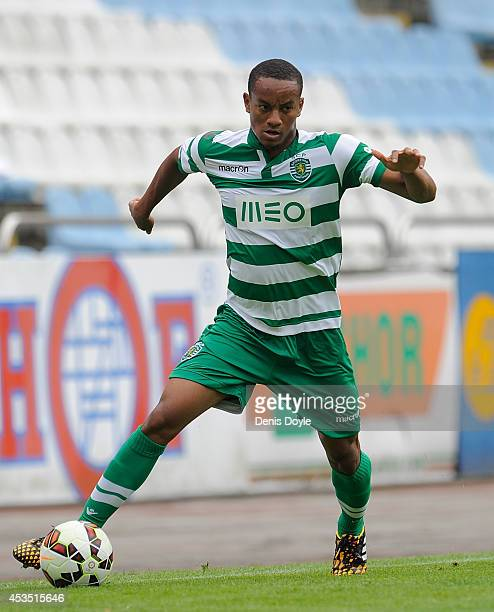 Andre Carillo of Sporting Clube de Portugal in action during the Teresa Herrera Trophy match between Sporting Clube de Portugal and Club Nacional de...