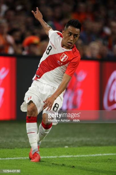 Andre Carrillo of Peru during the International Friendly match between Netherlands and Peru on September 6 2018 in Amsterdam Netherlands