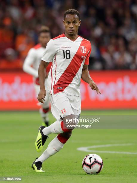 Andre Carrillo of Peru during the International Friendly match between Holland v Peru at the Johan Cruijff Arena on September 6 2018 in Amsterdam...