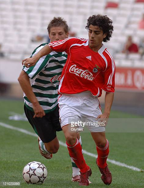 Andre Carvalhas and Adrien Silva during the Portuguese Under18 Championship match between SL Benfica and Sporting Lisbon on June 7 2007