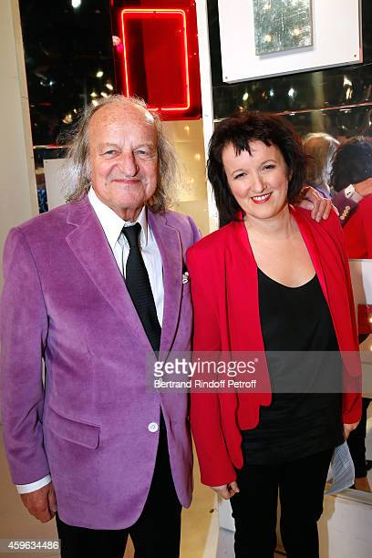 Andre Chapelle and Anne Roumanoff attend the 'Vivement Dimanche' French TV Show at Pavillon Gabriel on November 26 2014 in Paris France