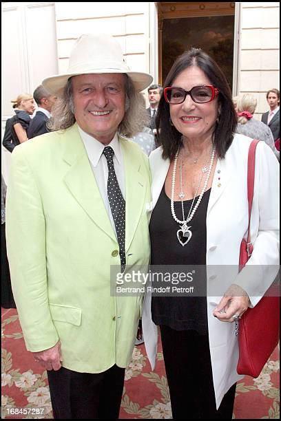 Andre Chapelle and Nana Mouskouri at Claudia Cardinale And Giorgio Armani Awarded By French President Nicolas Sarkozy With Insignias Of The Legion Of...