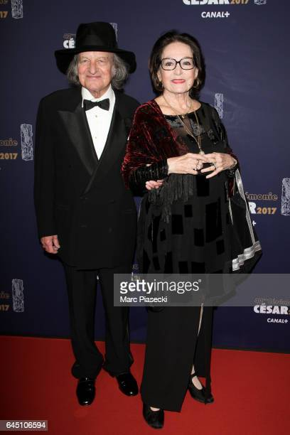 Andre Chapelle and Nana Mouskouri attend the the Cesar Film Awards 2017 ceremony at Salle Pleyel on February 24 2017 in Paris France