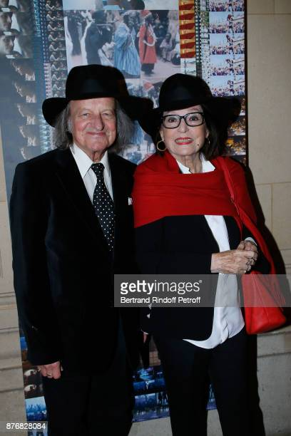 Andre Chapelle and Nana Mouskouri attend the Tribute to JeanClaude Brialy for the 10th anniversary of his death Held at Centre National du Cinema et...