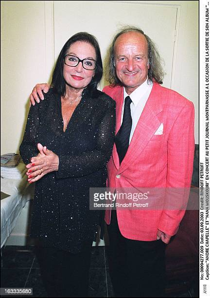 Andre Chapelle and Nana Mouskouri concert at the Petit Journal in Montparnasse to mark the launch of her new album Nana Swing