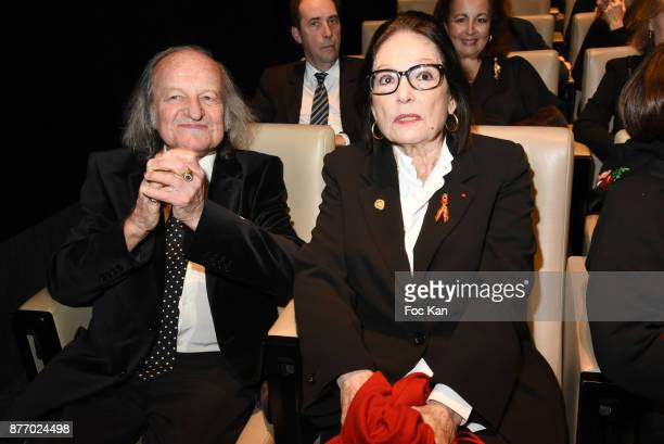 Andre Chapelle and singer Nana Mouskouri attend the Tribute to JeanClaude Brialy at Centre National du Cinema et de l'Image Animee on November 20...