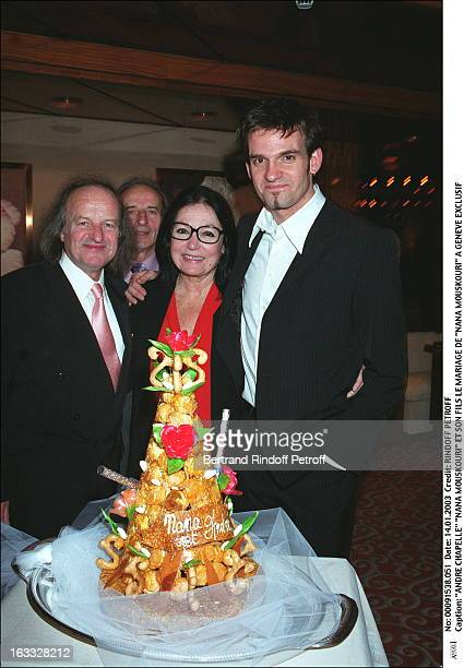 Andre Chapelle Nana Mouskouri and his son the wedding of Nana Mouskouri in Geneva cake