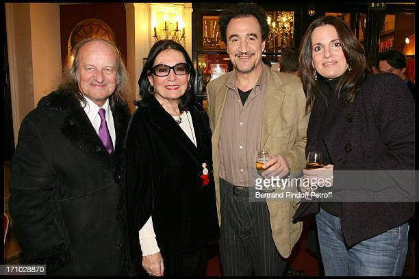 Andre Chapelle Nana Mouskouri Fellag Lenou at The 250th Performance Of The Show Tous Les Algeriens Sont Des Mecaniciens By Fellag And Marianne Epin...