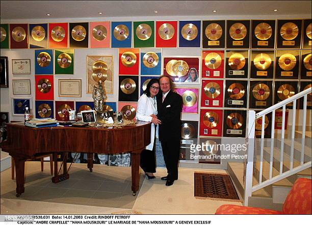 Andre Chapelle Nana Mouskouri the wedding of Nana Mouskouri in Geneva piano golden disc