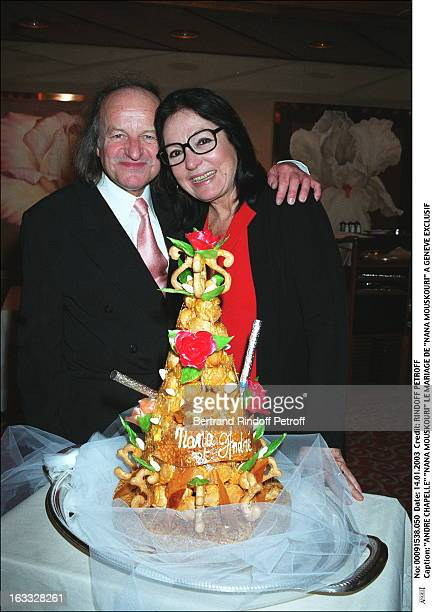 "Andre Chapelle ""Nana Mouskouri"" the wedding of ""Nana Mouskouri"" in Geneva cake."
