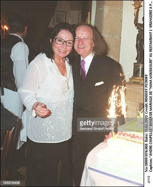 Andre Chapelle 'Nana Mouskouri' wedding dinner at the restaurant 'L'Orangerie' in Paris woman man husband