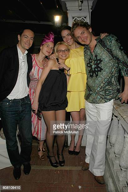 Andre Ciccoli Olyo Thompson Evelina Khrontchelko JJ Martin and attend Birthday Party For OLGA SVIBLOVA at Hotel Europa on June 6 2007 in Venice Italy