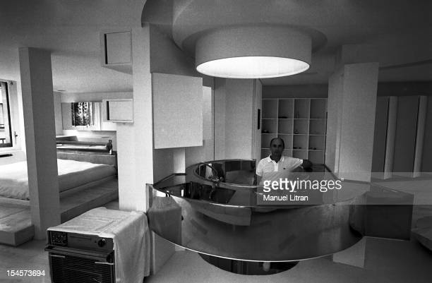 Andre COURREGES also an architect has designed its duplex NEUILLYSURSEINE all white including floor without doors or walls the designer in her...
