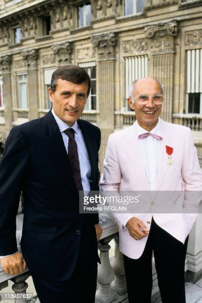 Andre Courreges Decorated By Francois Leotard On July 29th 1987 In ParisFrance