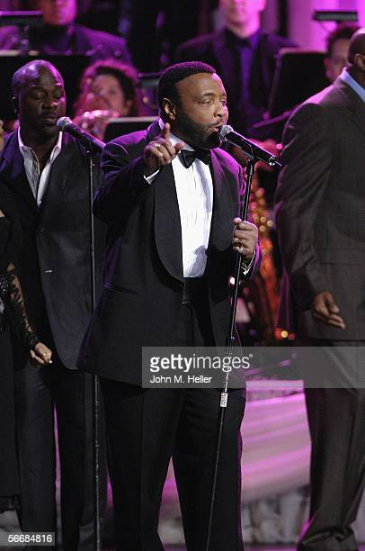 Andre Crouch performs at the Kodak theater for Dionne Warwick 45th Anniversary Spectacular on January 26 2006 in Hollywood California