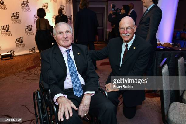 Andre Dawson and Nick Buoniconti attend the 33rd Annual Great Sports Legends Dinner which raised millions of dollars for the Buoniconti Fund to Cure...