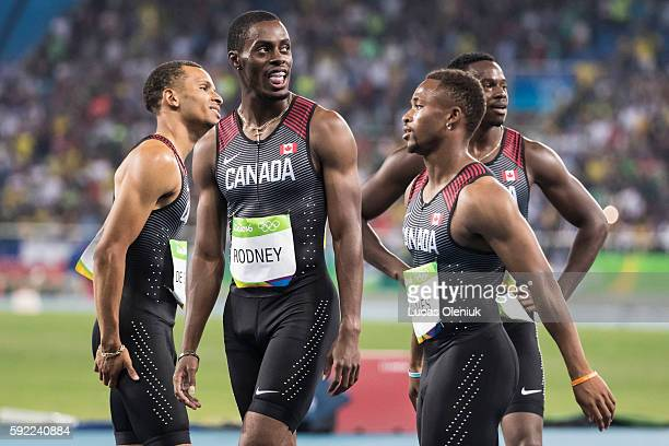 Andre De Grasse Brendon Rodney Aaron Brown and Akeem Haynes narrowly missed out on a bronze medal in the Olympic mens 4x100m relay at the Rio summer...