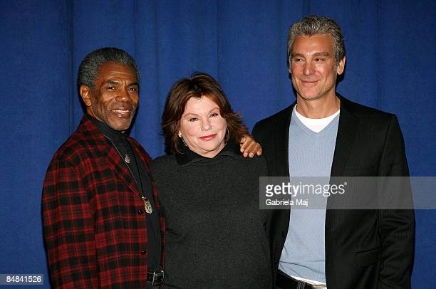 Andre De Shields Marsha Mason and Michael T Weiss attend a meetandgreet for the OffBroadway show Impressionism at the New 42nd Street Studios on...
