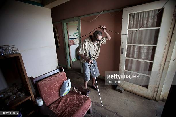 Andre Demeyer in a house in Daspoort on February 25 in Pretoria South Africa The phenomenon of informal settlements in South Africa inhabited by...