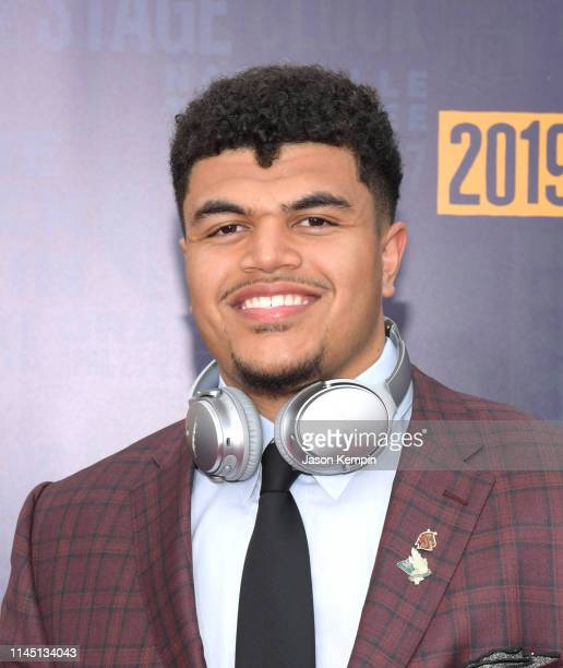 Andre Dillard attends the 2019 NFL Draft on April 25 2019 in Nashville Tennessee