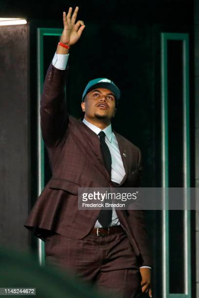 Andre Dillard is selected by the Philadelphia Eagles with pick 22 on day 1 of the 2019 NFL Draft on April 25 2019 in Nashville Tennessee