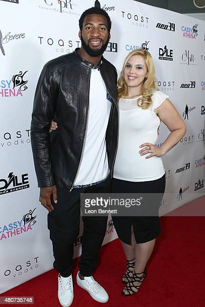 Andre Drummond and Cassy Athena attended NEO 39 Presents The Cassy Athena Collection PreESPYS Celebration at MR33B on July 14 2015 in Pasadena...