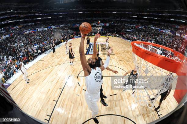 Andre Drummond Of Team LeBron rebounds the ball during the NBA AllStar Game as a part of 2018 NBA AllStar Weekend at STAPLES Center on February 18...