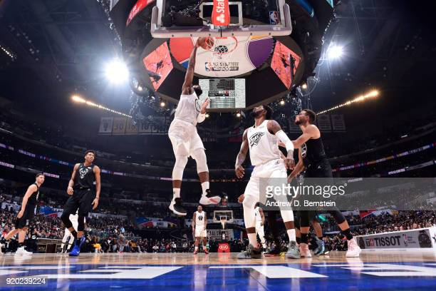 Andre Drummond Of Team LeBron shoots the ball during the NBA AllStar Game as a part of 2018 NBA AllStar Weekend at STAPLES Center on February 18 2018...