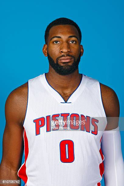 Andre Drummond of the Detroit Pistons poses for a headshot during the 20162017 Detroit Pistons Media Day on September 26 2016 in Auburn Hills...