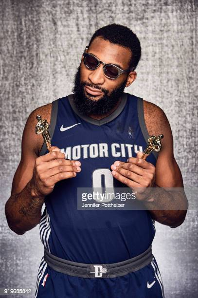 Andre Drummond of the Detroit Pistons poses for a portrait during AllStar Saturday Night as part of 2018 NBA AllStar Weekend on February 17 2018 at...