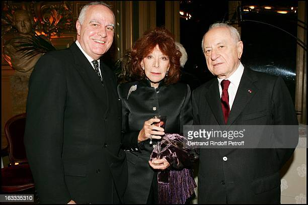Andre Dunstetter Charlotte Aillaud and Pierre Berge at the Theatre Mariinski Gala Evening at The Palais Garnier In Paris
