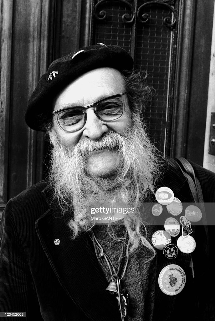 Andre Dupont Called Aguigui Mouna ( 1911-1999) In Paris, France In 1990 - : News Photo