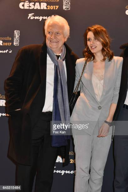 Andre Dussolier and his daughter Julia Dussolier attend the Cesar's Dinner at Le Fouquet's on February 24 2017 in Paris France