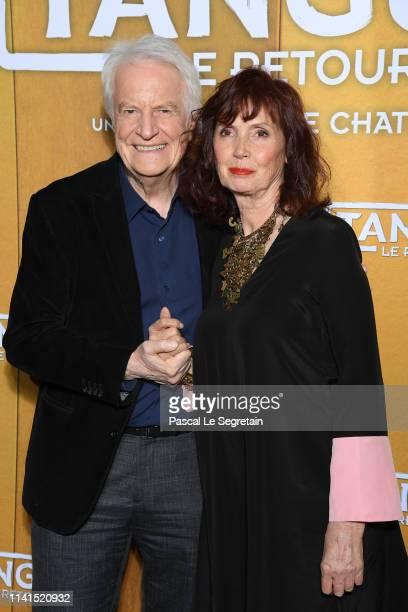"""Andre Dussolier and Sabine Azema attend """"Tanguy Le Retour"""" Premiere At Cinema Gaumont Capucines on April 09, 2019 in Paris, France."""