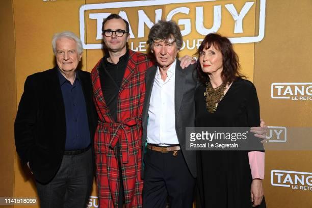 "Andre Dussolier, Eric Berger, Etienne Chatillez and Sabine Azema attend ""Tanguy Le Retour"" Premiere At Cinema Gaumont Capucines on April 09, 2019 in..."