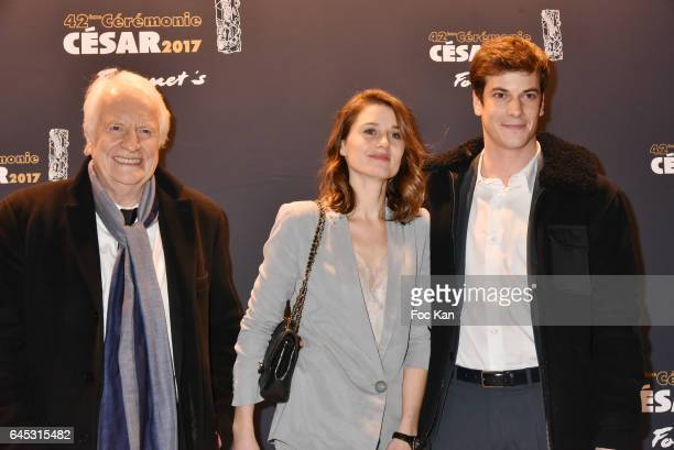 Andre Dussolier his dughter Julia Dussolier and his son Leo Dussolier attend the Cesar's Dinner at Le Fouquet's on February 24 2017 in Paris France