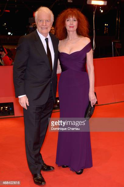 Andre Dussollier and Sabine Azema attend the 'Life of Riley' premiere during 64th Berlinale International Film Festival at Berlinale Palast on...