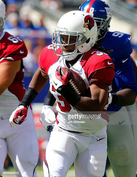 Andre Ellington of the Arizona Cardinals in action against the New York Giants on September 14 2014 at MetLife Stadium in East Rutherford New Jersey...
