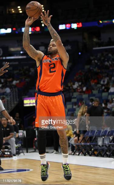 Andre Emmett of 3's Company takes a shot during the BIG3 Playoffs at Smoothie King Center on August 25, 2019 in New Orleans, Louisiana.