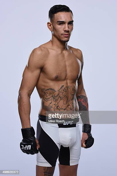 Andre Fili poses for a portrait during a UFC photo session on November 18 2015 in Monterrey Mexico