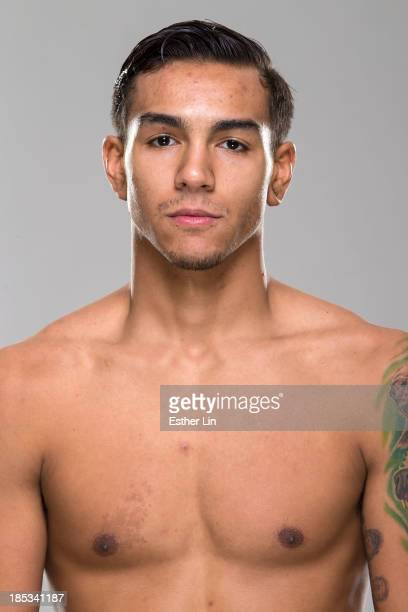 Andre Fili poses for a portrait during a UFC photo session on October 16 2013 in Houston Texas