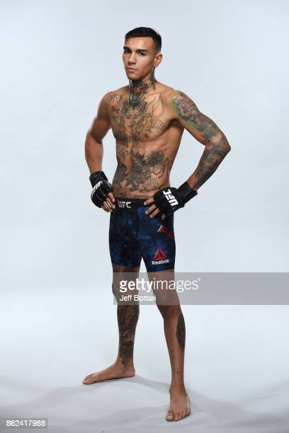 Andre Fili poses for a portrait during a UFC photo session on October 17 2017 in Gdansk Poland