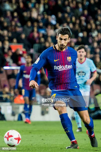 Andre Filipe Tavares Gomes of FC Barcelona in action during the Copa Del Rey 201718 Round of 16 match between FC Barcelona and RC Celta de Vigo at...