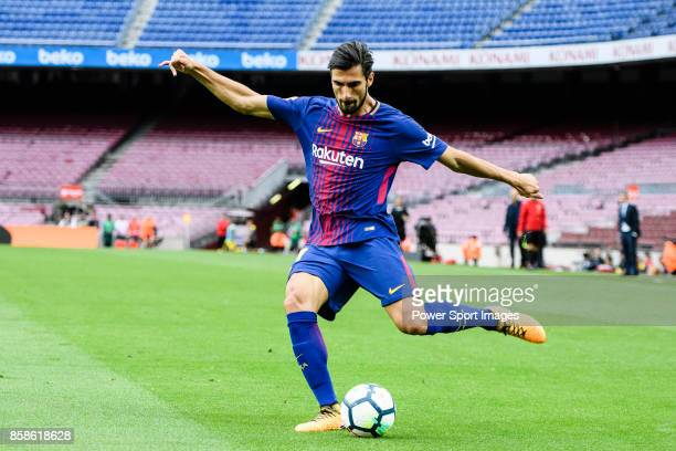Andre Filipe Tavares Gomes of FC Barcelona in action during the La Liga 201718 match between FC Barcelona and Las Palmas at Camp Nou on 01 October...