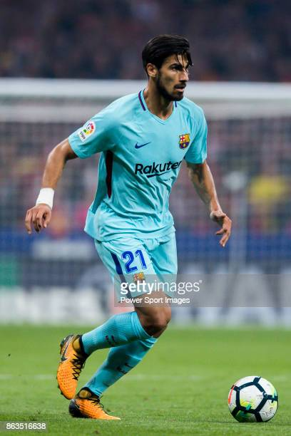 Andre Filipe Tavares Gomes of FC Barcelona in action during the La Liga 201718 match between Atletico de Madrid and FC Barcelona at Wanda...